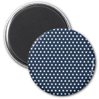 Regalos minúsculos blancos de los lunares de los a imán redondo 5 cm