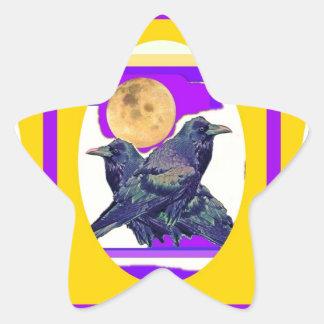 Regalos místicos de la luna del cuervo por Sharles Pegatina En Forma De Estrella