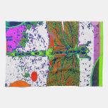 Regalos modernos de la libélula verde por Sharles Toallas De Mano
