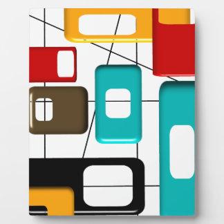 Regalos modernos del diseño geométrico de los placa