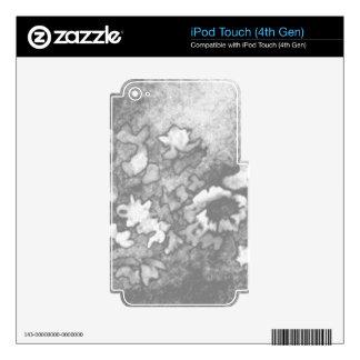 Regalos modernos elegantes florales del blanco skins para iPod touch 4G