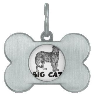 Regalos multi majestuosos del gato grande placa mascota