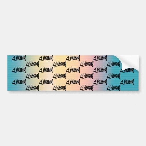 Regalos multicolores del modelo de los esqueletos  pegatina de parachoque