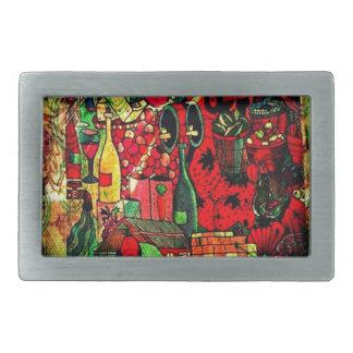 Regalos murales abstractos del diseño de la fantas hebillas cinturon rectangulares