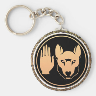 Regalos nativos de Metis del arte del lobo del Llavero Redondo Tipo Pin