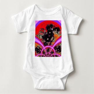 Regalos negros de la lila de los Hollyhocks del Body Para Bebé