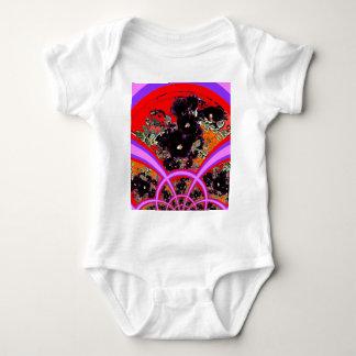 Regalos negros de la lila de los Hollyhocks del T Shirts