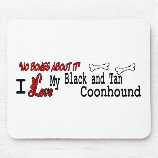 Regalos negros y del moreno del Coonhound Alfombrillas De Ratones