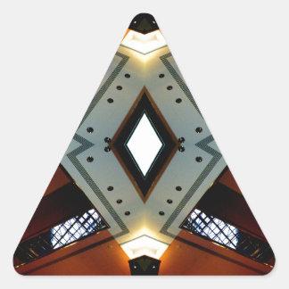 Regalos Nerdy de la diversión de los pegatinas Pegatina Triangular