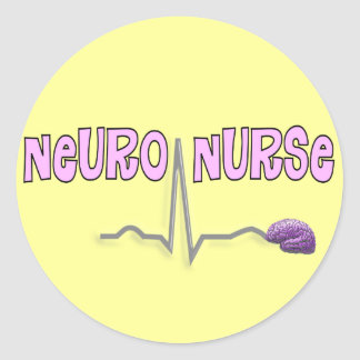 Regalos neuros de la enfermera pegatina redonda
