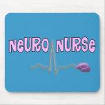 Regalos neuros de la enfermera tapete de ratón