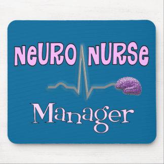 Regalos neuros del encargado de la enfermera tapete de raton