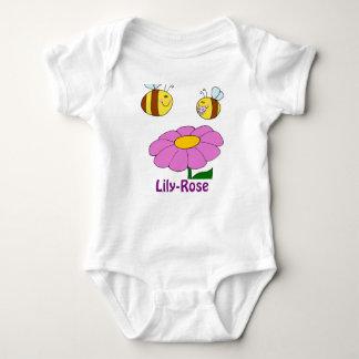 Regalos nombrados Lirio-Rosa de la niña - Remera