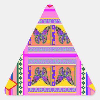 Regalos occidentales del diseño de la mariposa de colcomanias trianguladas personalizadas
