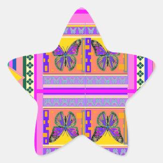 Regalos occidentales del diseño de la mariposa de pegatina forma de estrella personalizada