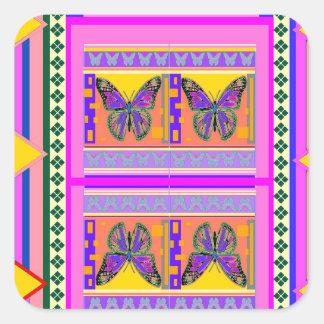Regalos occidentales del diseño de la mariposa de pegatina cuadradas personalizadas