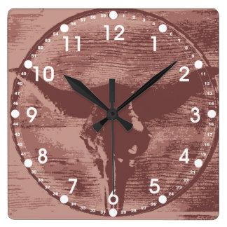 Regalos occidentales del vaquero del cráneo de Bul Relojes De Pared