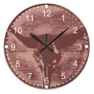 Regalos occidentales del vaquero del cráneo de Bul Reloj Redondo Grande