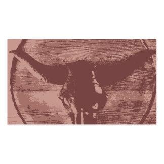 Regalos occidentales del vaquero del cráneo de Bul Tarjetas De Visita