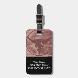 Regalos occidentales del vaquero del cráneo de etiquetas de equipaje