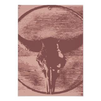 Regalos occidentales del vaquero del cráneo de invitación