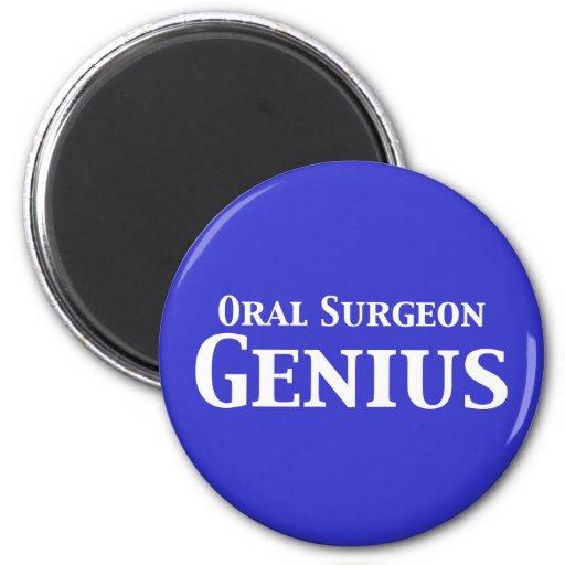 Regalos orales del genio del cirujano iman de nevera