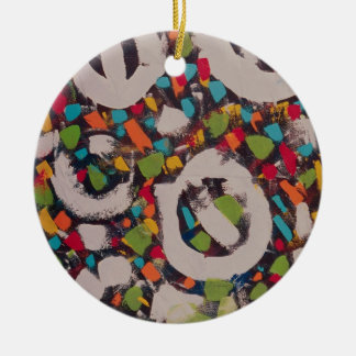 Regalos-oranament únicos adorno navideño redondo de cerámica