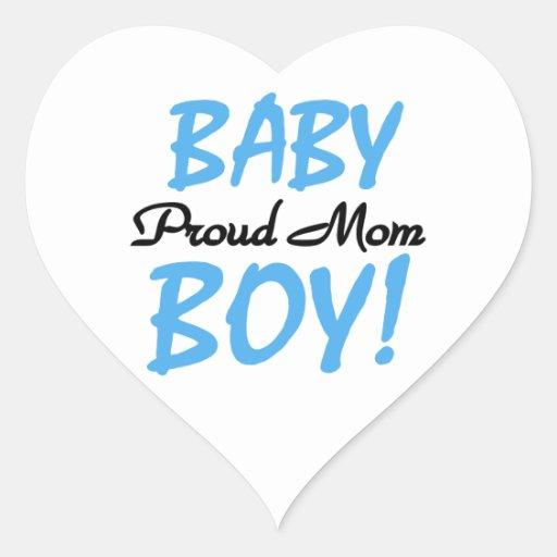 Regalos orgullosos del bebé de la mamá pegatinas corazon