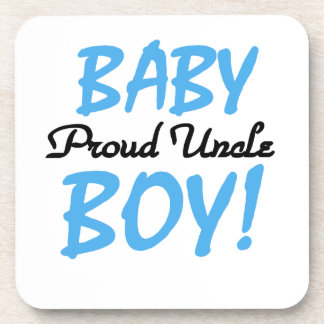 Regalos orgullosos del tío bebé posavasos de bebida