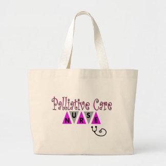 Regalos paliativos de la enfermera del cuidado bolsa tela grande