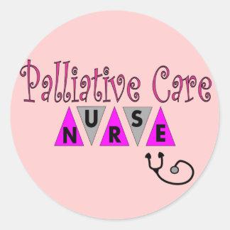 Regalos paliativos de la enfermera del cuidado pegatina redonda
