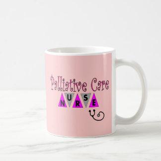 Regalos paliativos de la enfermera del cuidado taza