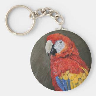 Regalos para el amante del loro. Macaw del Llavero Redondo Tipo Chapa