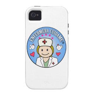 Regalos para Enfermera Cuidame Rubia Celeste iPhone 4 Fundas