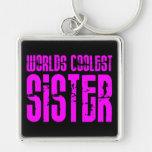 Regalos para la hermana más fresca de los mundos r llavero personalizado