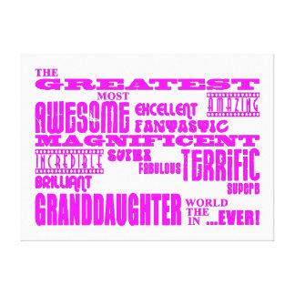 Regalos para las nietas La nieta más grande Lona Envuelta Para Galerias