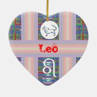 Regalos para LEO - - símbolo de la estrella del Adorno De Cerámica En Forma De Corazón