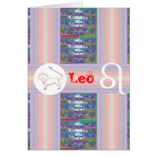Regalos para LEO - - símbolo de la estrella del na Tarjeta De Felicitación
