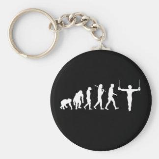 Regalos para los gimnastas - anillos de la gimnasi llavero redondo tipo pin