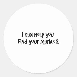 Regalos para los psiquiatras pegatina redonda