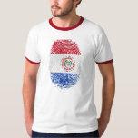 Regalos paraguayos de la bandera el 100% de la polera