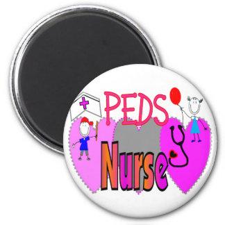Regalos pediátricos de la enfermera diseños único iman