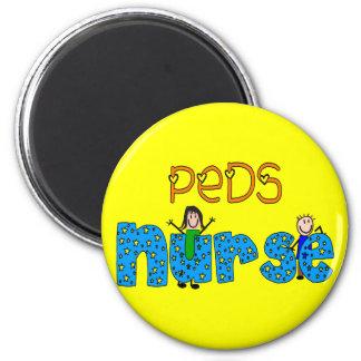 Regalos pediátricos de la enfermera imán redondo 5 cm