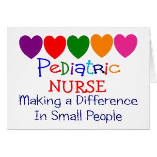 Regalos pediátricos de la enfermera tarjeta de felicitación