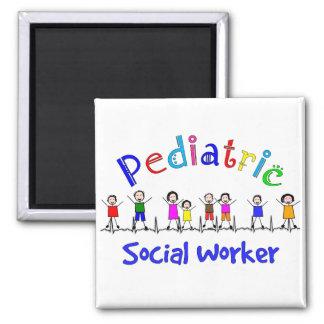 Regalos pediátricos del asistente social imán cuadrado