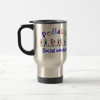 Regalos pediátricos del asistente social taza térmica