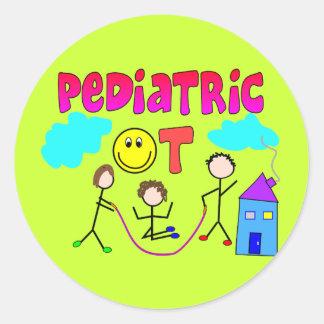 Regalos pediátricos del terapeuta profesional etiquetas redondas