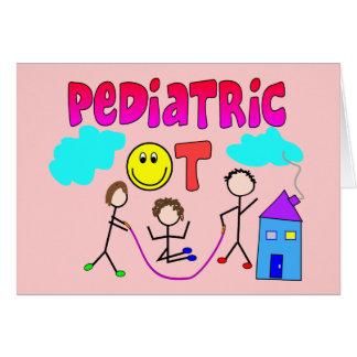 Regalos pediátricos del terapeuta profesional tarjeta de felicitación