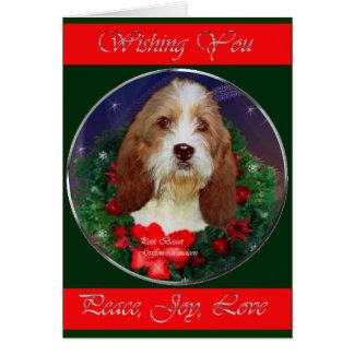 Regalos pequenos del navidad de Griffon Vendeen de Felicitacion