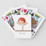 Regalos personalizados de la gimnasia baraja cartas de poker